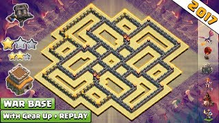 Updated Town Hall 8 (TH8) War Base With Double Cannon + REPLAYS ♦ Anti 2 & 3 Star TH8 War Base  2017