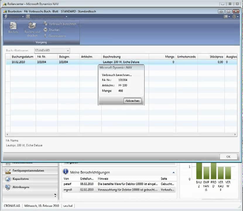 Microsoft Dynamics NAV 2009 - 4.4 Produktion, Einkauf, Lager - YouTube