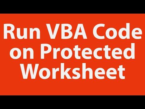Run vba code on protected worksheet youtube run vba code on protected worksheet ibookread ePUb