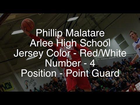 Phillip Malatare - Arlee Warrior Basketball 2017