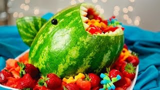 Watermelon Shark Fruit Salad | Sharknado 2 | Just Add Sugar
