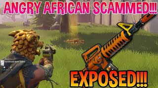 Angry African Got Caught Scamming! (Scammer Gets Scammed) Fortnite Save The World