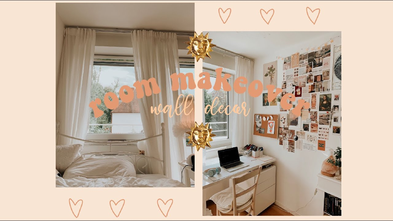 room makeover // aesthetic wall decor - YouTube on Room Decor Aesthetic id=82452