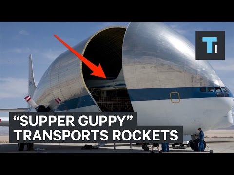 "NASA uses this ""Super Guppy"" plane to transport rockets"