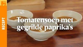 Tomatensoep met gegrilde paprika's
