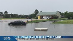 10,000 Texas homes could flood twice a month, research shows