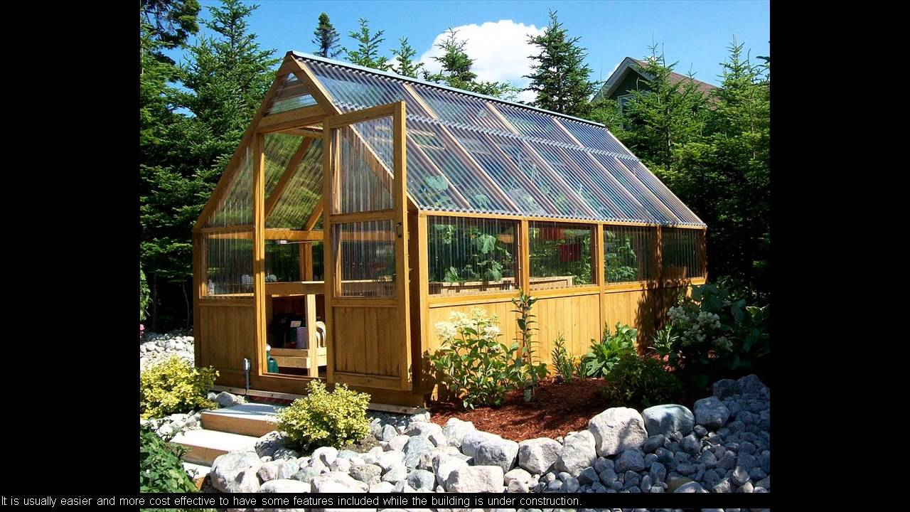 greenhouse construction plans free - YouTube