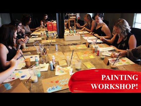 HOSTING A LOCAL PAINTING WORKSHOP! | Paige Poppe