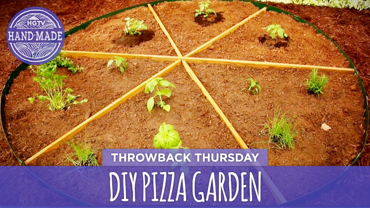 diy pizza garden throwback thursday hgtv handmade - Pizza Garden