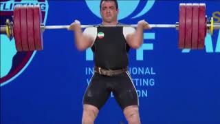 Sohrab Moradi Senior World Record Clean and Jerk 233 kg (514 lb) - 94 kg Weight Class (2017 WWC)