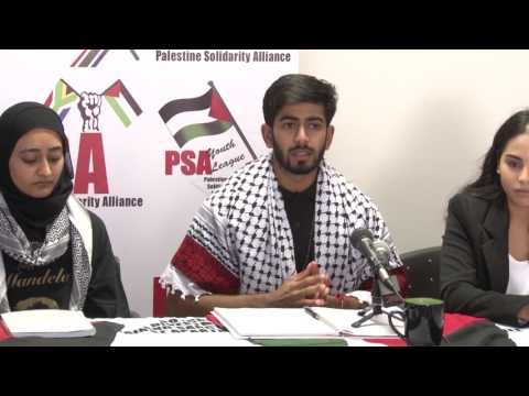 PSAYL Press Conference report back on visit to Occupied Palestine. Karishma Magan & Irfaan Mangera