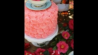 Garden Party! Decorate A Cake With One Single Fresh Flower