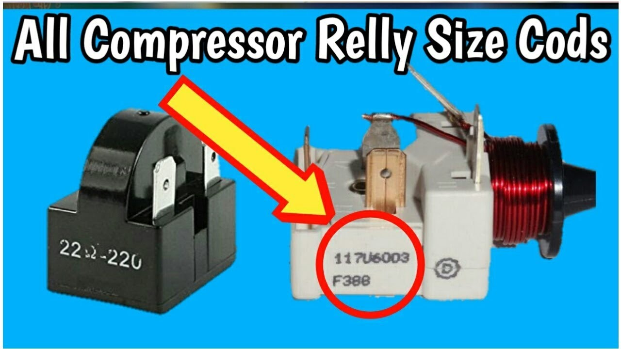 All compressor Relay code,s | national & Danfoss Relay list codes in on