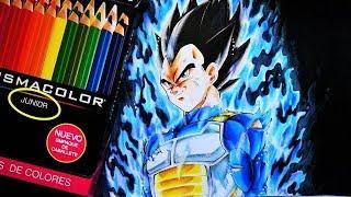 Como Dibujar a VEGETA Migatte no Gokui ( con Prismacolor JUNIOR ) Tutorial Dragon Ball Super