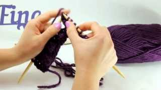 Видеоурок вязания от Fineyarn #5 Как вязать узор спицами