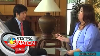 "Jessica Soho interviews Sen. Ferdinand ""Bongbong"" Marcos Jr. on State of the Nation"