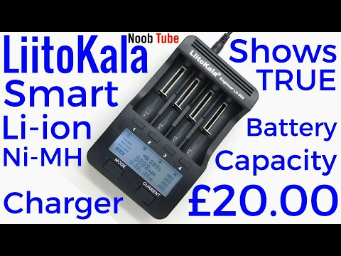 Liitokala Lithium ion 18650 NiMH AA AAA Smart Battery Charger Shows TRUE Capacity Vape E Bike Cells