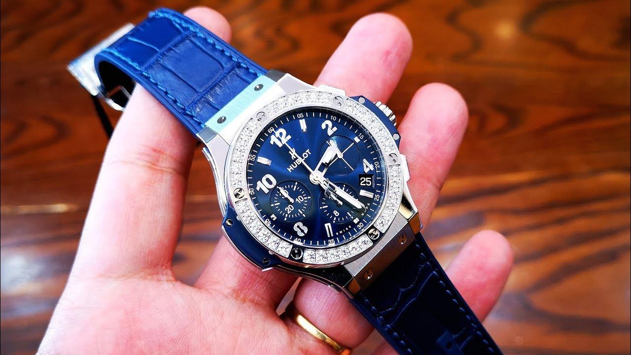 [Review Đồng Hồ] Hublot Big Bang Chronograph Blue Diamond 341.SX.7170.LR.1204 | ICS Authentic