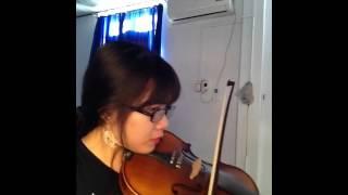 Trường làng tôi - alice kamthu violin cover