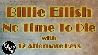 Billie Eilish - No Time To Die Karaoke Instrumental Original Lower Higher Male Key