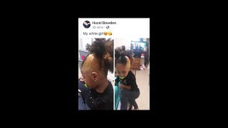 "BL@CK MOTHER BLEACHES HER 3 YR OLD DAUGHTERS HAIR BLONDE! CALLS HER ""HER WH!TE GIRL"""