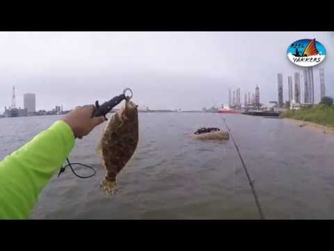 Reel yakkers galveston channel flounder episode 12 for Flounder fishing galveston