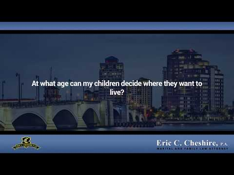 At What Age can My Children Decide Where They Want to Live?