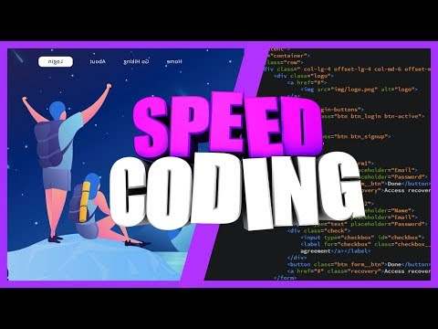 SPEED CODING WEBSITE || PSD TO HTML, CSS || ВЕРСТКА САЙТА ИЗ PSD