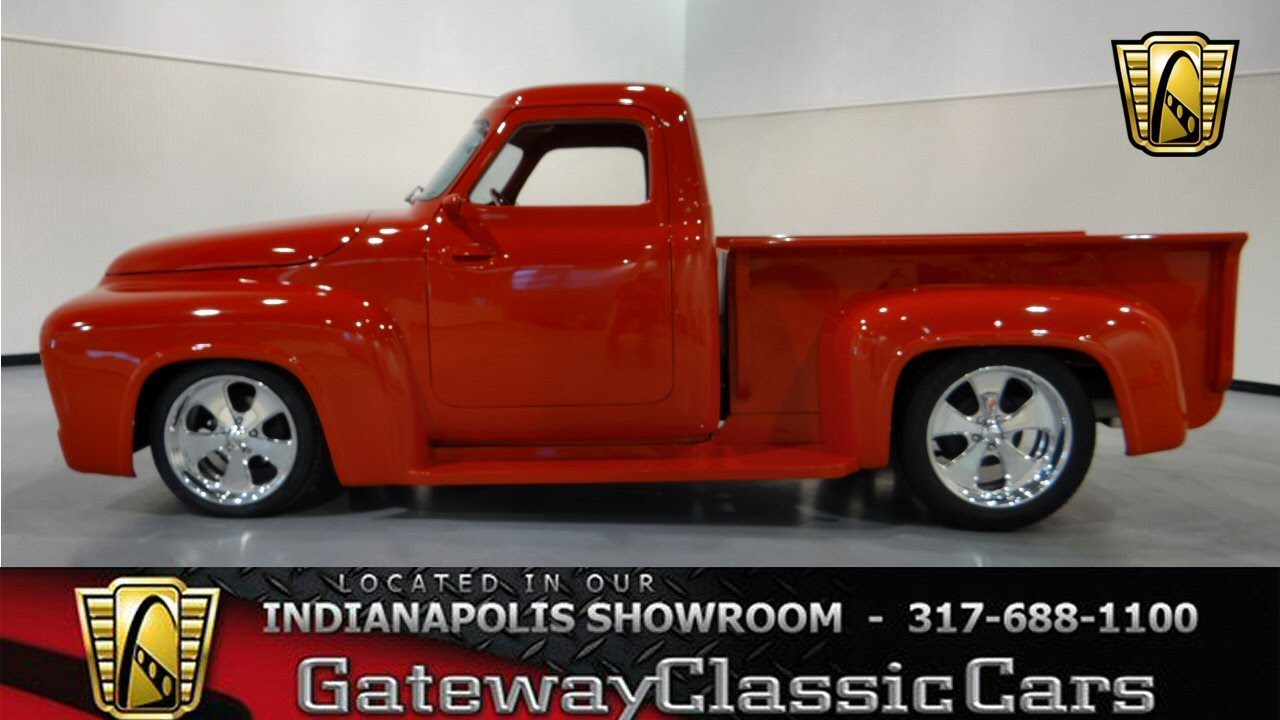 1955 Ford F 100 Gateway Classic Cars Indianapolis 275 Ndy F100 Street Rod Youtube
