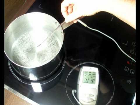 Test De Mont E En Temp Rature D 39 Une Plaque Induction Youtube
