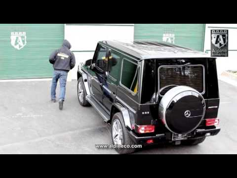 Armored Mercedes Benz G63 Amg Door Shocks Installed