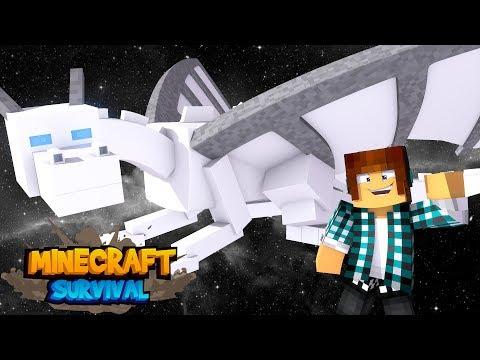 Minecraft Survival #28 - O DRAGÃO BRANCO SECRETO !!
