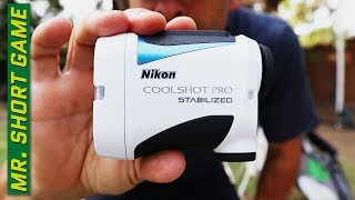Golf Rangefinder Nikon Coolshot Pro Stabilized on Course Review!