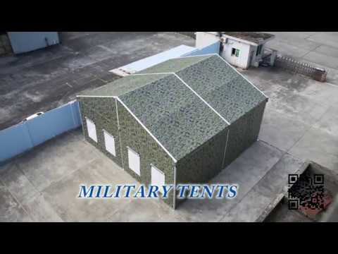 A Short Showing Of 10M Outdoor Camping Camouflage Military Aluminum Tent
