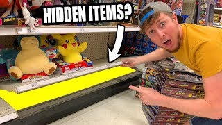 WHAT DID I FIND UNDER THE STORE SHELF? Hidden Pokemon Card Searching for Packs!