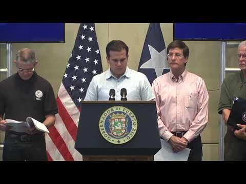Puerto Rico: Oct 11 - Gov. Rosselló y FEMA Noticias en Español & English. (CC)