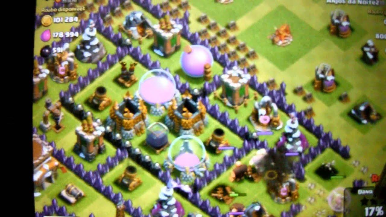 Clash Of Clans Dicas Ataque Contra Rei Barbaro Youtube
