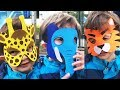 Animals with Face Masks and Funny Kid Video