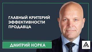 Главный критерий эффективности продавца / Бизнес тренинг продаж - Дмитрий Норка