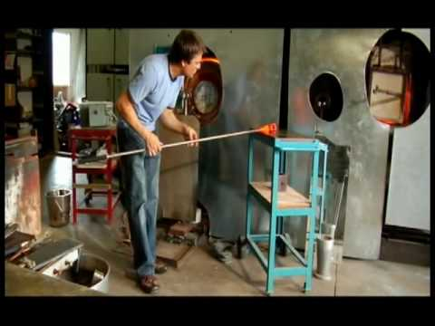 glass blowing instructional documentary by Jonathan Adams part 1