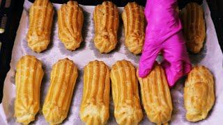 ԷԿԼԵՐ․ Նոր մատչելի բաղադրատոմս ձեթով և Ֆրանսիական համեղ կրեմով / эклер / Ekler / Eklerner