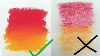 DO's and DON'Ts of BLENDING OIL PASTELS #dosanddonts #oilpastels #howtouseoilpastels