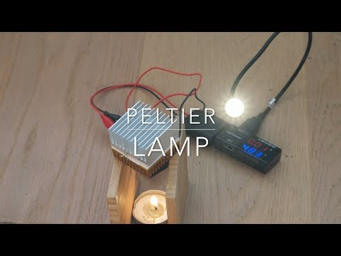Peltier powered USB light