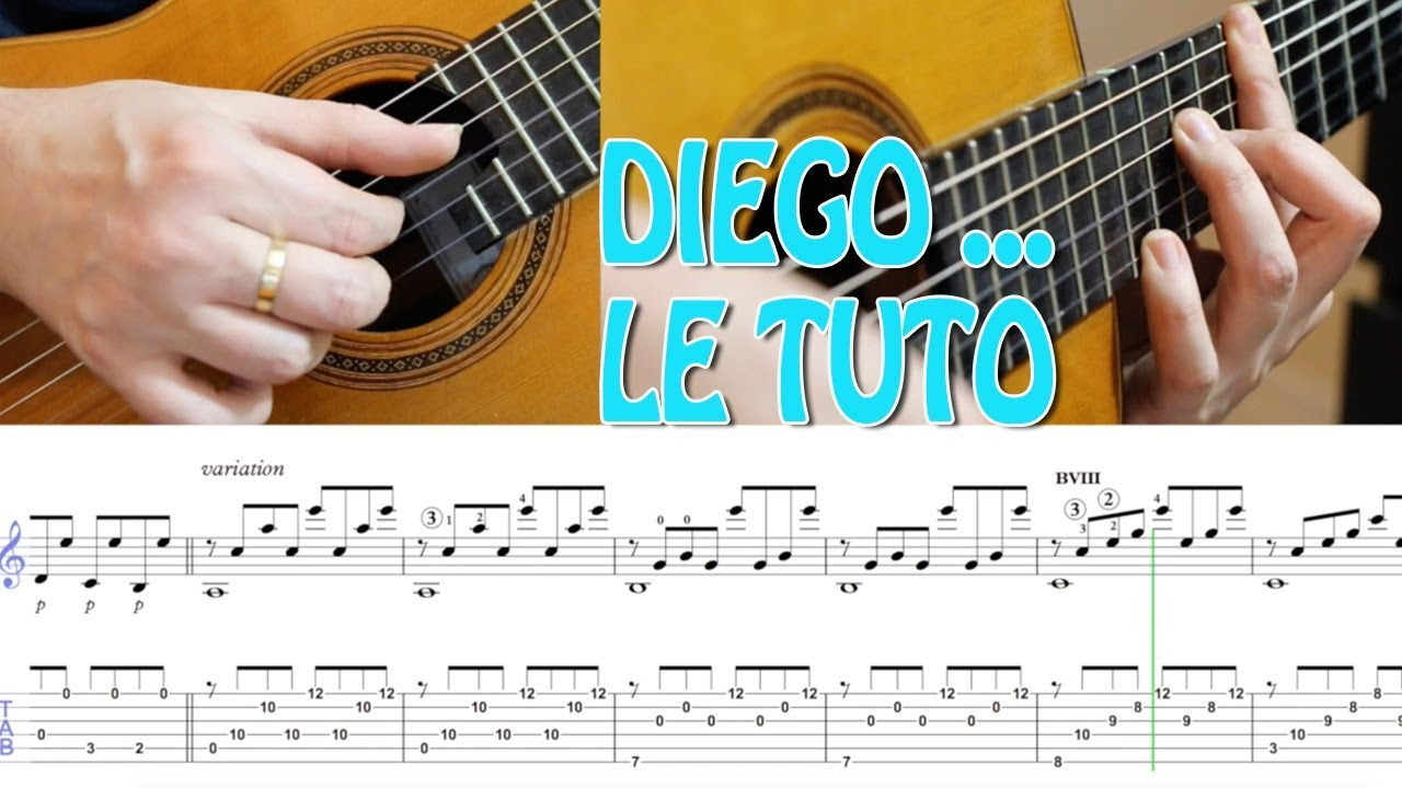 partition guitare diego johnny hallyday