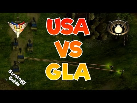 ZH - USA vs GLA Early/Mid Game Guide