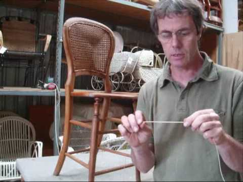 chair caning how to pt 1 youtube. Black Bedroom Furniture Sets. Home Design Ideas