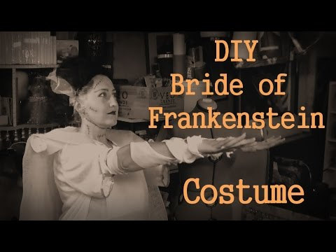Diy Bride Of Frankenstein Costume Youtube