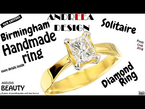 Bespoke Diamond Ring Made by Hand in Birmingham Jewellery Quarter