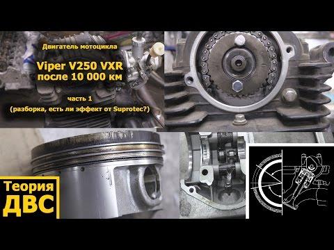 Теория ДВС: Китайский мотоцикл Viper V250 VXR после 10 000 км часть 1 (двигатель, эффект Suprotec?)