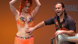 Oxana Bazaeva and Artem Uzunov belly dance drums | Darbuka Tabla solo